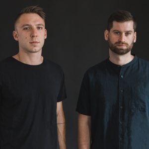 Publicity photo of Clayton Knight and Harrison Mills of ODESZA by Eric Tra via Shore Fire Media