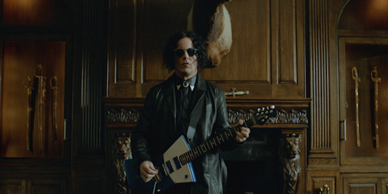 Jack White in a video still from video for Corporation